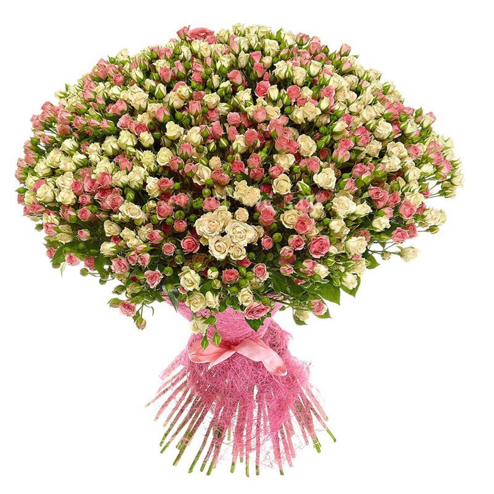 Букет из 101 кустовой розы