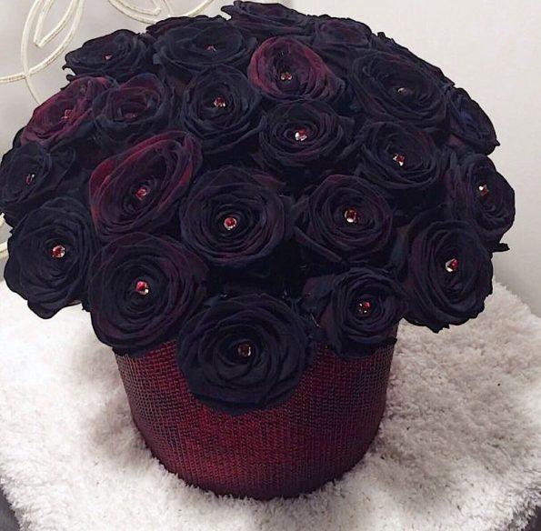 Кому стоит дарить букет черных роз