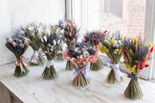 Букеты из засушенных цветов