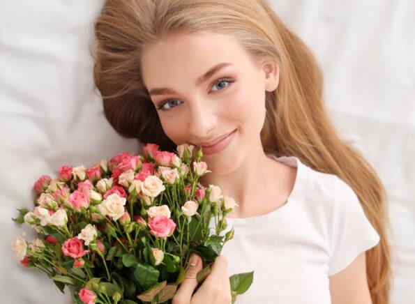 Делаем красивое фото с букетом цветов