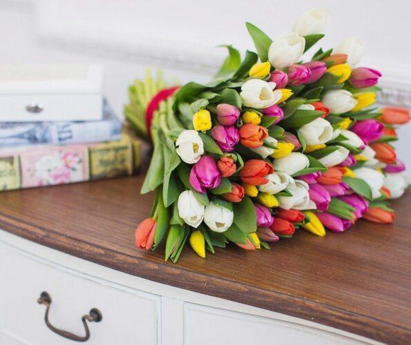 Букет тюльпанов – правильное сочетание