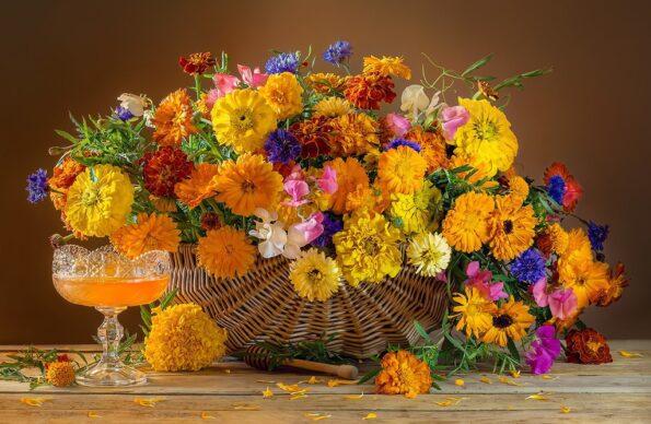 Модные осенние цветы для празднования осени
